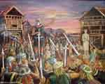 Surrender of the slavonian temple-stronghold Arkona